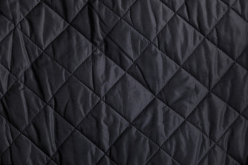 Black Quilted Fabric Background