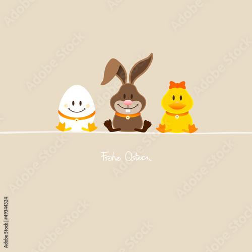 Ei, Hase & Ente Beige