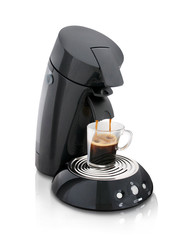 Black electric coffee maker