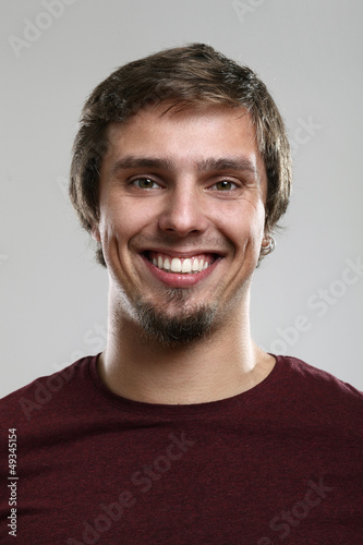 Young man with happy expression