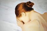 Fototapety crying sad girl, painting, illustration