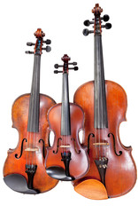 three sizes of fiddles