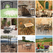 garden furniture collection on italian terraces