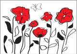 red poppies - 49345771