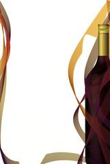 Wine list design, bottle