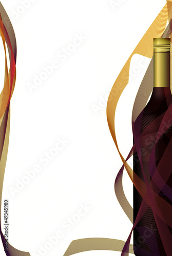 Wine list design, bottle