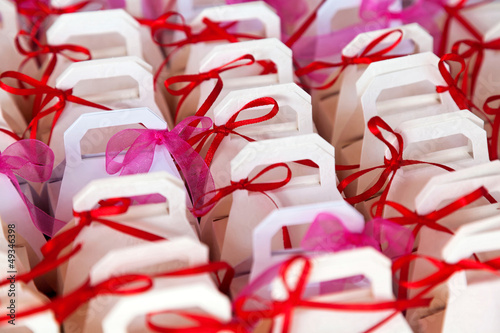 Colorful baptism favors