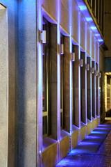 Beleuchtete Fassade