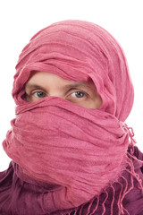 Woman wearing headscarf