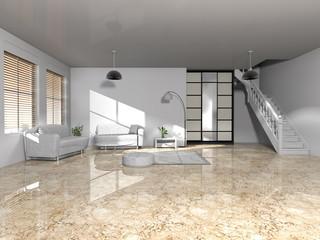 Modernes Wohnen in Weiß