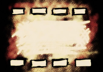 hand drawn old film strip background, texture