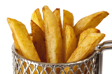 French Fries in Wire Basket