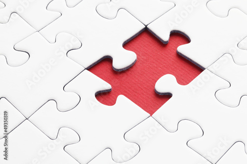 Jig Saw Puzzle - One Piece Missing