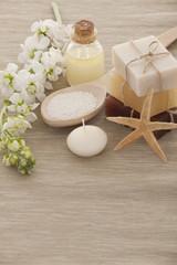 Handmade Soap closeup.Spa products