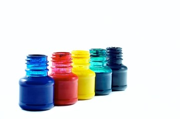 bottles of ink