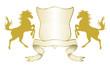 Wappen für Reiter mit Spruchband
