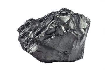A piece of  coal on white