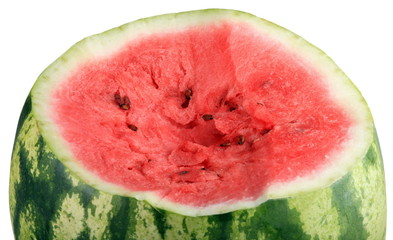 one cutted watermelon isolated