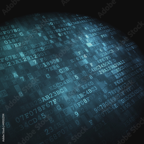 Technology concept: hex-code digital background