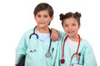 Kids dressed up as doctors