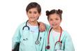 Kids dressed up as doctors