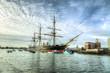 Leinwanddruck Bild - HMS Warrior - Portsmouth