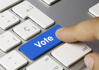 Vote keyboard key Finger