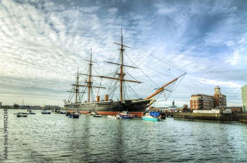 Leinwanddruck Bild HMS Warrior - Portsmouth