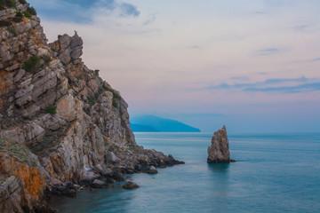 Crimean sanset landscape near Yalta