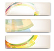 Abstract trendy vector banner horizontal  set