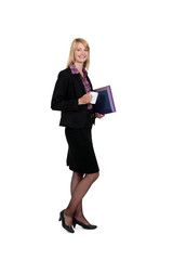 Female businessperson with documents