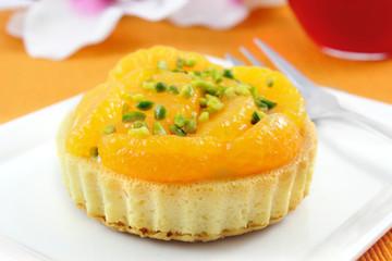 mandarin tart - Mandarin-Orangen-Törtchen