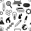 seamless doodle science pattern