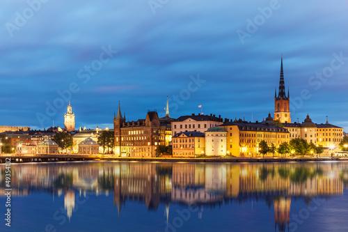 Foto op Canvas Praag Evening summer scenery of Stockholm, Sweden