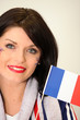 French Supporter waving miniature flag