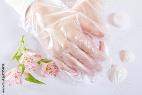 Transparent single use gloves - 49354794