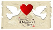 Valentine doves in love