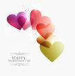 Valentine transparent hearts
