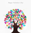 Love hearts concept tree