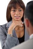 Businesswoman interviewing a job applicant