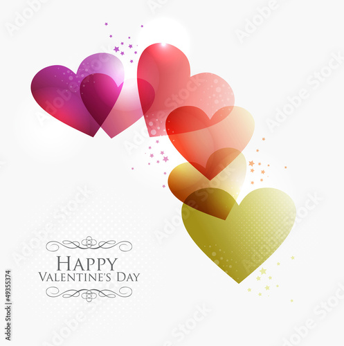 Valentine transparent hearts