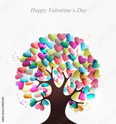 Love hearts concept tree