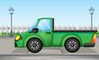 A green car