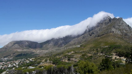 clouds over table mountain, cape town