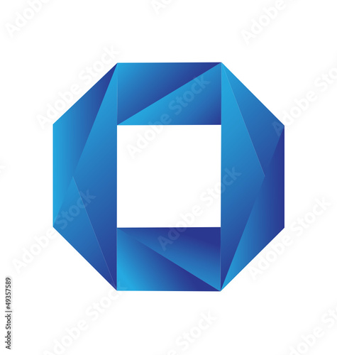 Blue geometric logo