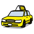 Cartoon Car 10 : Yellow Taxi