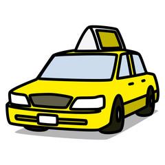 Cartoon Car 10 : Yellow Taxi