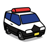Cartoon Car 11 : Compact Patrol Car
