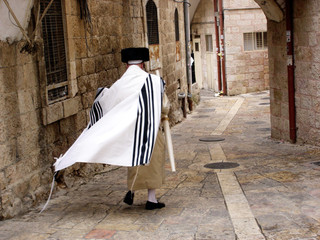 Mea Shearim neighbourhood in Jerusalem Israel.