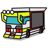 Cartoon Car 14 : Dekotora (Decoration Truck)